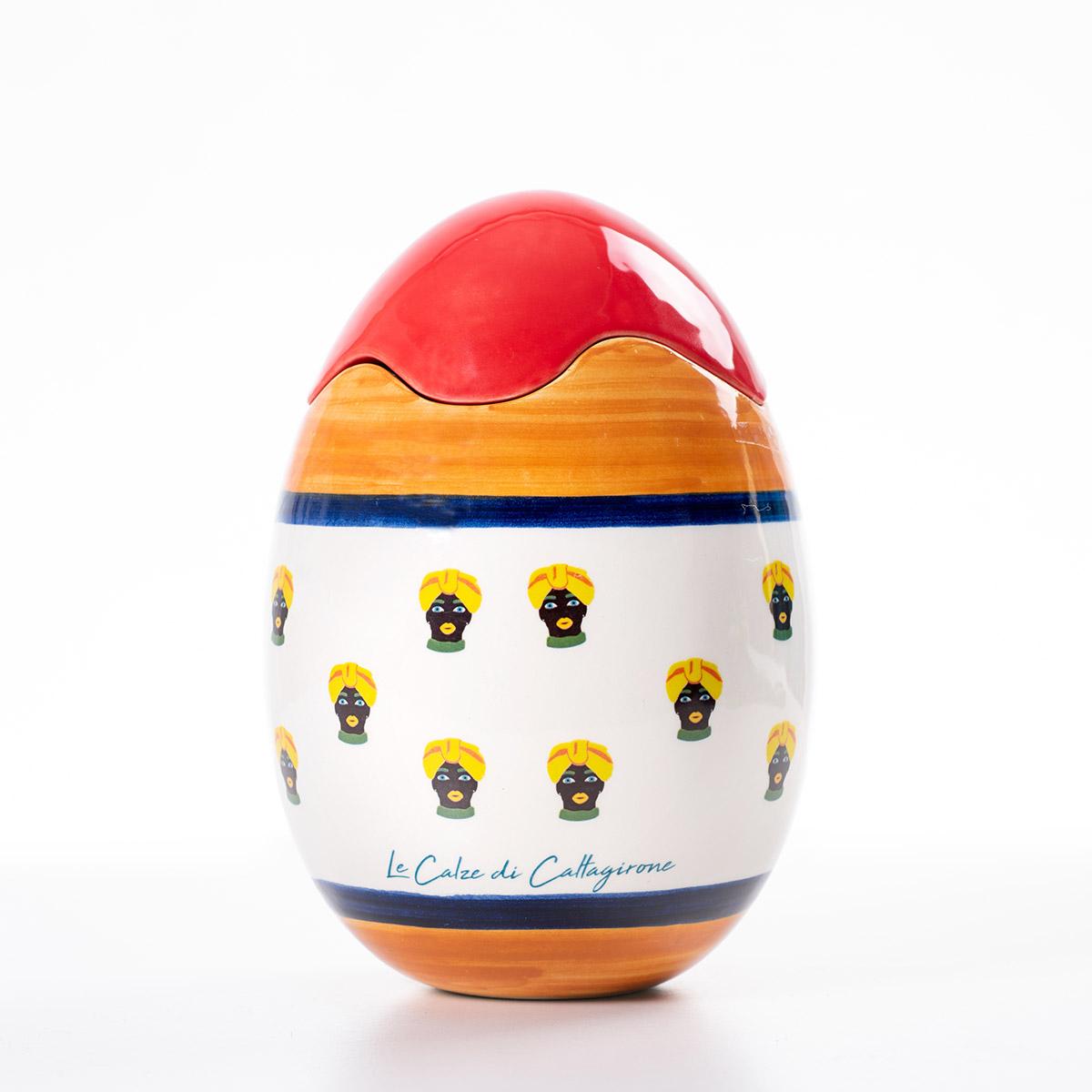 È una delle più conosciute d'italia, nonché una delle più documentate e stilisticamente variegate. Uovo Da Collezione In Ceramica Testa Di Moro Le Calze Di Caltagirone