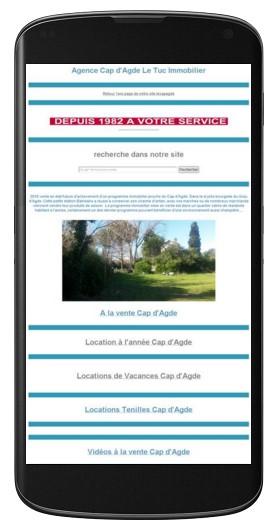 Page index Agence Cap dAgde Le Tuc immobilier  Ventes et locations Plage Richelieu  Gestion