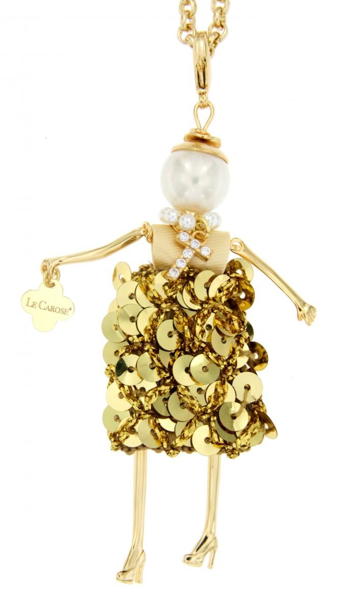 Collana Carosa Letterina Oro
