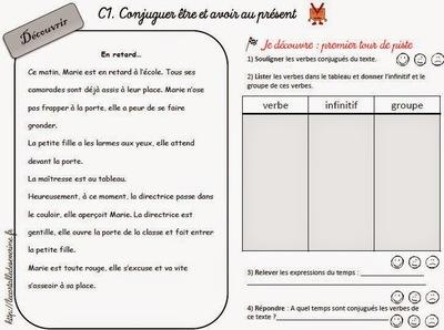 exercices conjugaison ce1 ce2