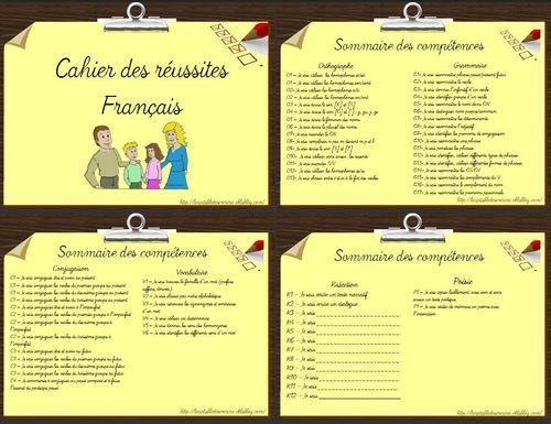 Cahier des réussites français ce2