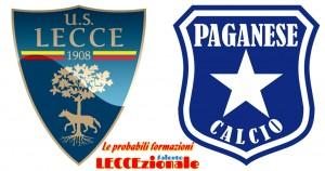 Lecce-Paganese probabili