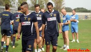 Lecce, allenamento a Squinzano