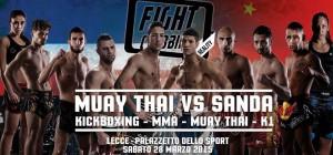 MUAY THAI vs SANDA - locandina