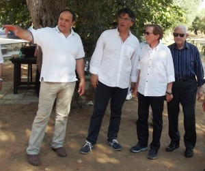 Osvaldo Bevilacqua conl presidente Rizzo, Sparascio ed Olla Atzeni Sereno Variabile