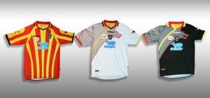 Maglie Lecce con sponsor Moby