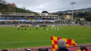 Ischia-Lecce dalla tribuna ospiti