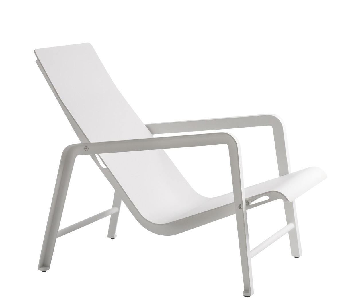 fauteuil bas mirthe de tribu blanc