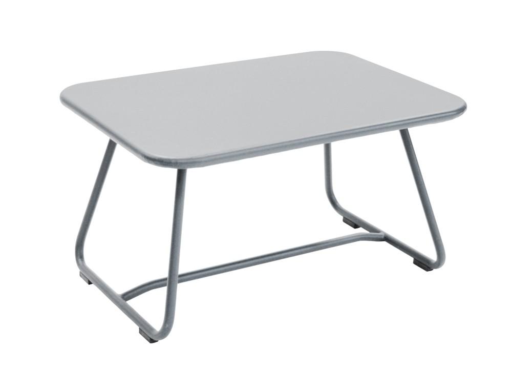 table basse sixties de fermob gris metal