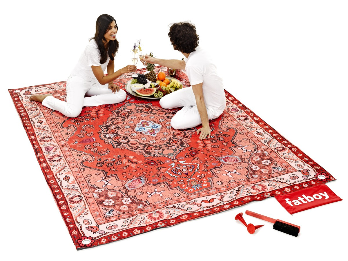 tapis picnic lounge de fatboy rouge