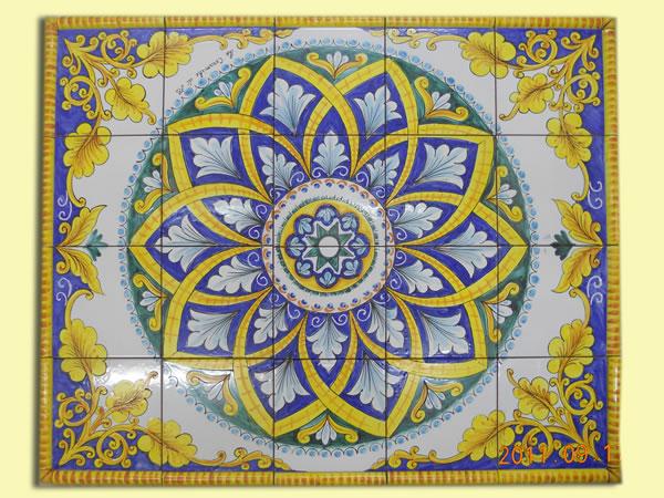 Mattonelle Siciliane Great Lotto Mattonella Piastrella X Ceramica Vietri Patchwork Fatte Mano