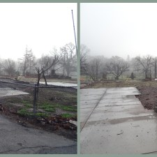 Adjacent lots in Middletown, CA. The property on the left was abandoned by the property owner while the property on the right was cleared by Pacific States crews.
