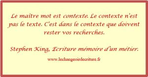 écriture mémoire d'un métier, S.KING4
