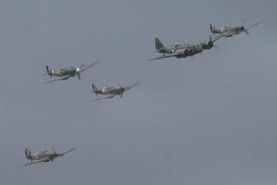 Bristol Blenheim, Supermarine Spitfire & Hawker Hurricane Flying Legends 2015