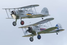 Gloster Gladiator patrol Flying Legends 2015 - 01