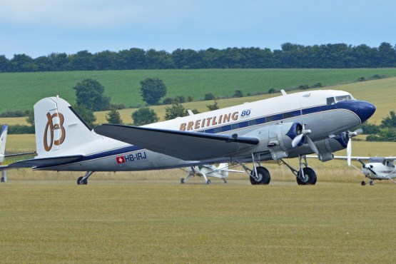 Le DC-3 Breitling (Photo Alan Wilson (CC BY-SA 2.0))