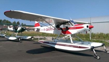 Piper PA-18 F-HLBC (Photo Aquitaine Hydravions)