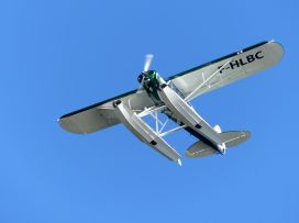 Piper PA-18 F-HLBC (Photo Aquitaine Hydravions)