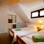 A twin bedded room