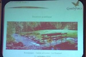 Présentation de Pierre & Vacances lors de la réunion publique du 11/09/2014