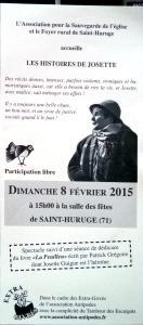 Affiche Josette St Huruge