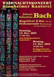 Wehnachtskonzert der Ginnheimer Kantorei 2015