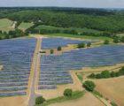 Centrale photovoltaïque réalisée par l'Allemand Wirsol à Outwood, Essex,au Royaume-Uni.