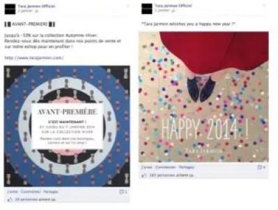 Sur la page Facebook, l'accent est davantage mise sur la vente privée en avant première. Un moyen d'attirer du trafic en boutique, mais aussi d'annoncer la couleur avec les soldes qui arrivent.