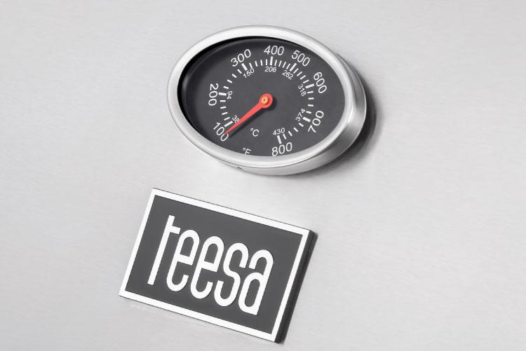 Grill gaz Teesa cu termometru incorporat
