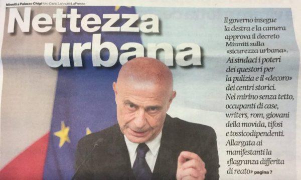 Diritti in comune Pisa: Il Daspo urbano tra propaganda securitaria e lotta ai poveri