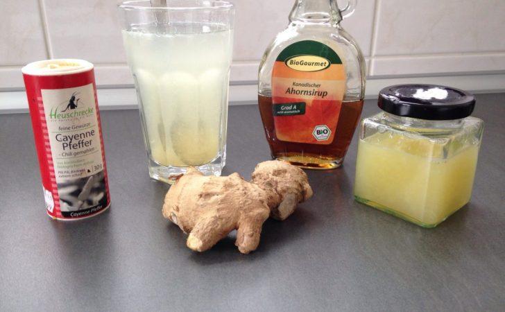 Zitronensaft Master Cleanser mit Ingwer