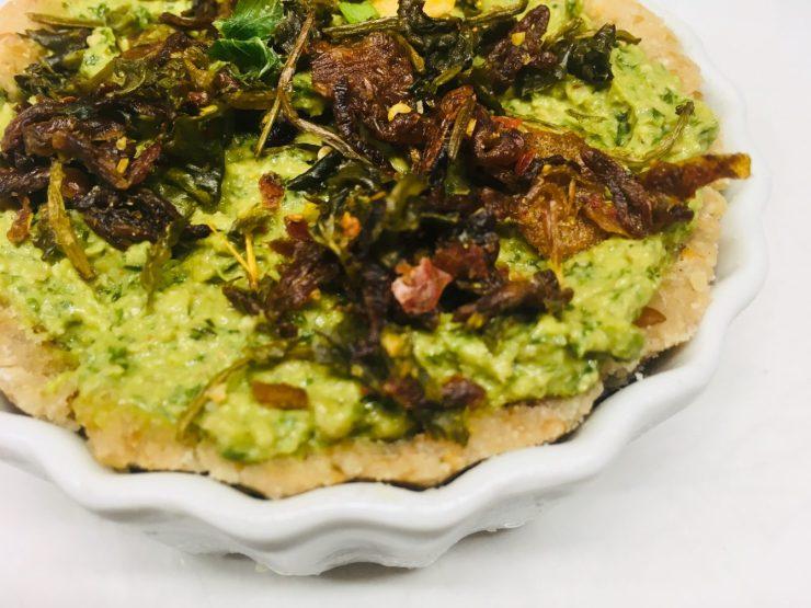 Paranuss Tartelettes mit Avocado und Brokkoli Zitronen Pesto