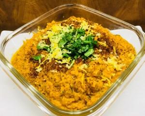 Pikanter Karotten Dip mit Harissa