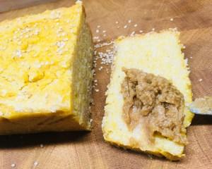 Polenta Mais Brot mit Reis und Sesam