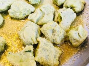 Gebratene Bärlauch Gnocchi in Thymian Zitronen Öl
