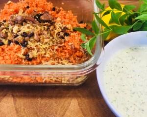 Karotten Salat mit Berberitzen, Walnüssen und Honig Minze Dressing