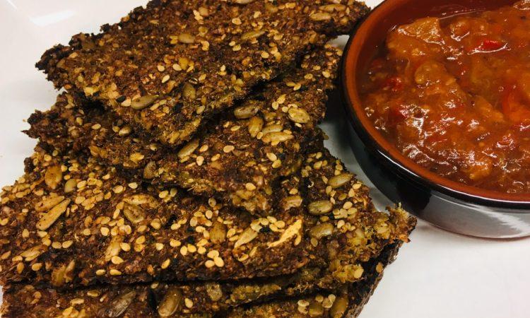 Blumenkohl Cracker mit Chutney