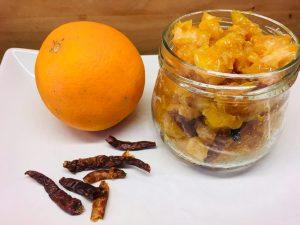 Karamellisierte Chili-Orangen