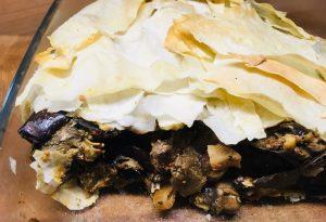Auberginen Pilz Pastete