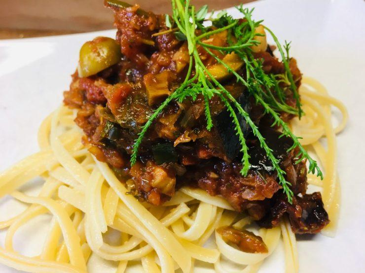 Linguine mit Caponata Siciliana