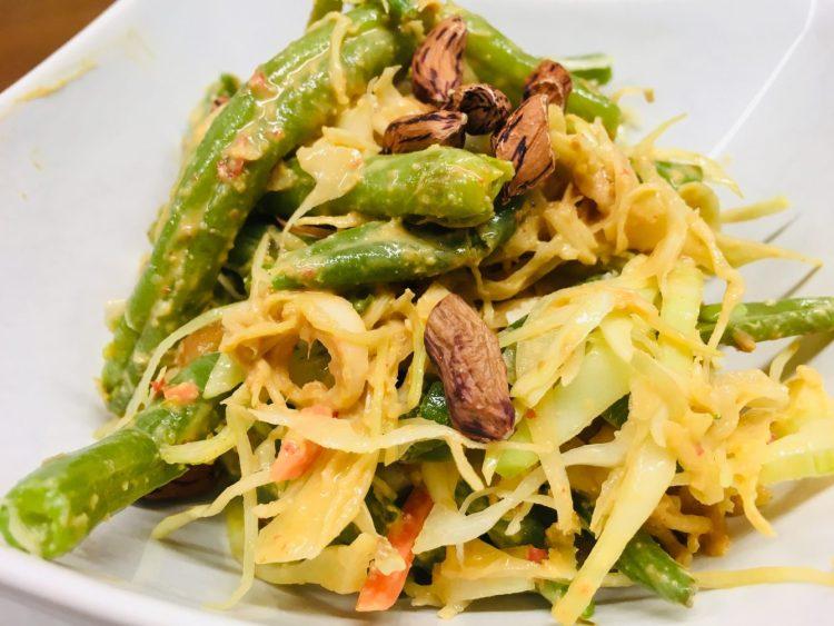 Karedok - Indonesischer Weißkraut Salat mit Erdnuss Sauce