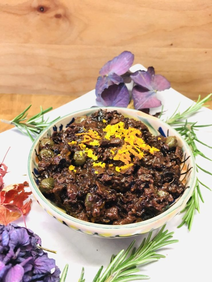 Oliven Tapenade mit Kakao