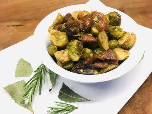 Rosenkohl Maronen Gemüse mit Aprikosen