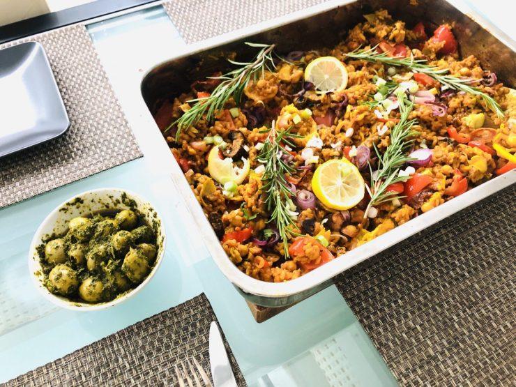 Gemüse Paella aus dem Ofen