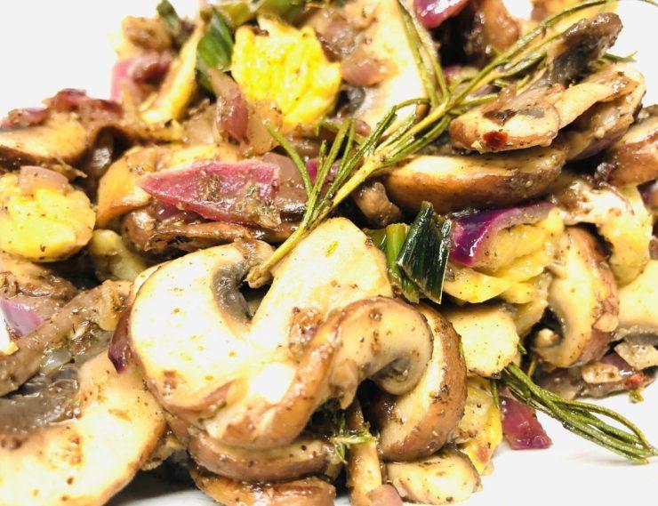 Geröstete Pilze mit Maronen und Za'atar