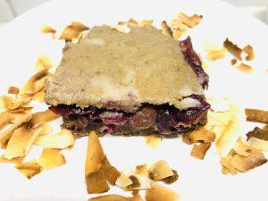 No-Bake Trauben Kuchen mit Kokos Karamell Creme