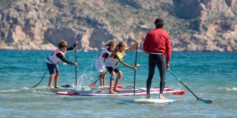 entreno en el agua competicion sup race