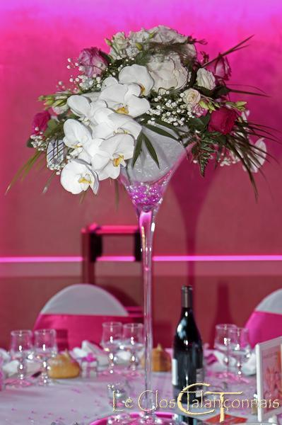 Great With Centre De Table Mariage Vase Martini