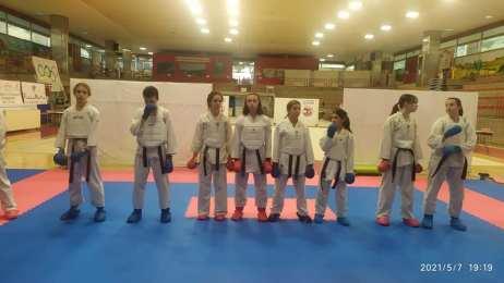 Gli atleti della Polisportiva Karate Quiliano