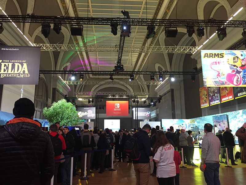Nintendo Switch présentation salon
